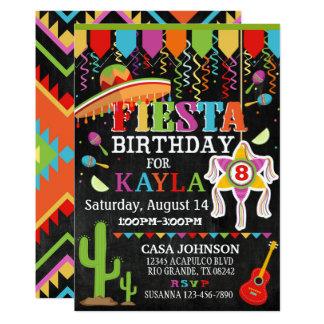 Mexican Fiesta Pinata Party Bright Colors Birthday 13 Cm X 18 Cm Invitation Card