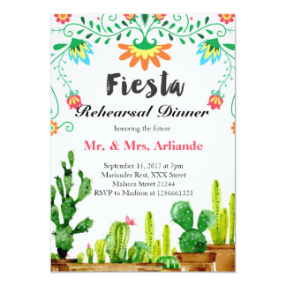 Mexican Fiesta Rehearsal Dinner Invitation