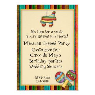 Mexican Fiesta Themed Invitation