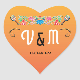 Mexican Fiesta wedding stickers