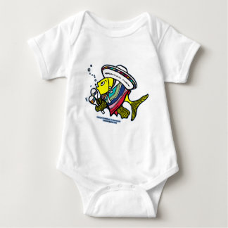 Mexican fish baby bodysuit