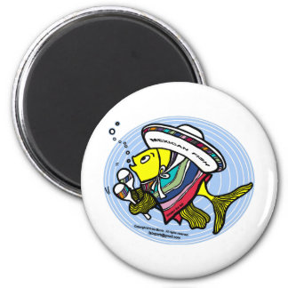 Mexican Fish in a circle Magnet