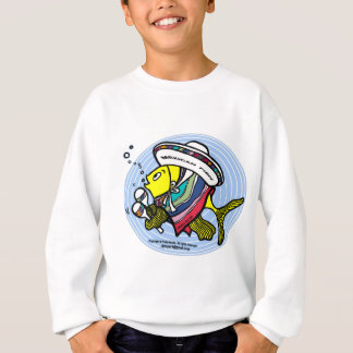 Mexican Fish in a circle Sweatshirt