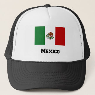 Mexican Flag and Text Trucker Hat