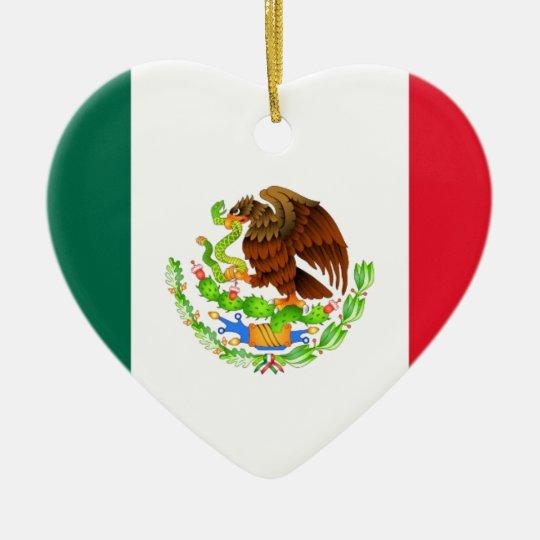 Mexican Flag Christmas Ornament