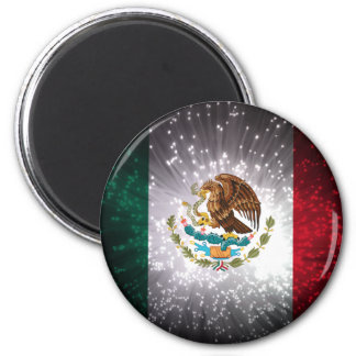 Mexican Flag Firework 6 Cm Round Magnet