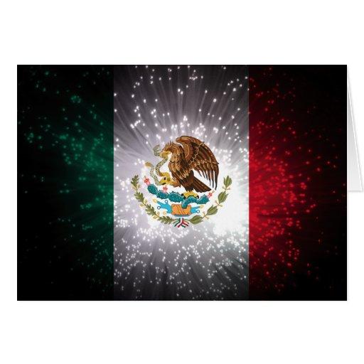 Mexican Flag Firework Cards