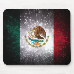 Mexican Flag Firework Mouse Pads