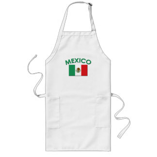 Mexican Flag (Green) Long Apron