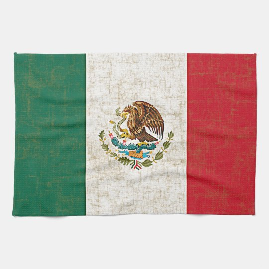 MEXICAN FLAG Kitchen Towel
