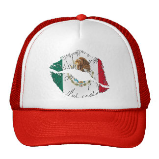 Mexican Flag Lips Mesh Hat