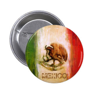 MEXICAN FLAG - MEXICO STYLE 6 CM ROUND BADGE