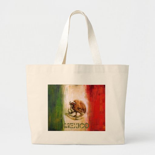 MEXICAN FLAG - MEXICO STYLE JUMBO TOTE BAG