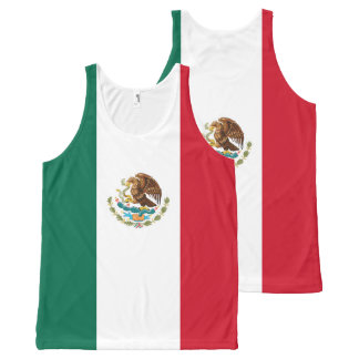 Mexican Flag of Mexico Green White Red Tricolor All-Over Print Tank Top