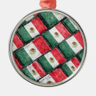 Mexican Flag Pattern Design Christmas Ornament
