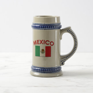 Mexican Flag (Red) Beer Stein