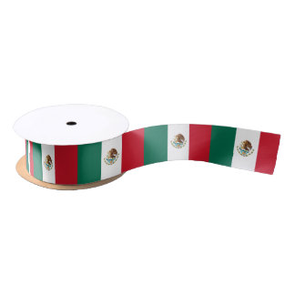 Mexican flag ribbon satin ribbon