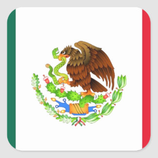 Mexican Flag Square Sticker