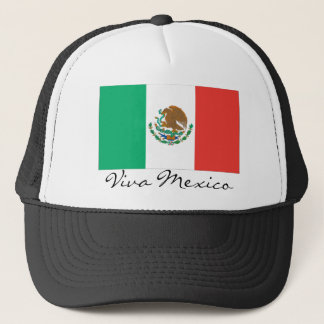 mexican flag, Viva Mexico Trucker Hat