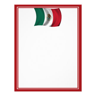 Mexican Flag Waving Full Color Flyer