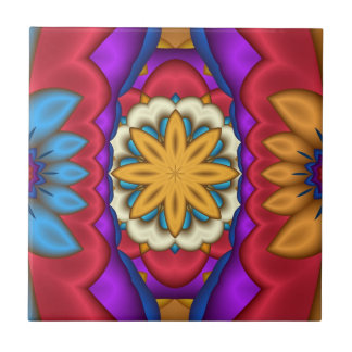 Mexican Floral Abstract Tile