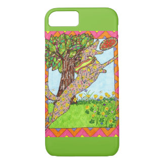 Mexican Folk Art Dog Playing Frisbee iPhone 7 Case
