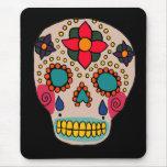 Mexican Folk Art Sugar Skull Mouse Pads