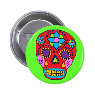 Mexican Folk Art Sugar Skull Pin