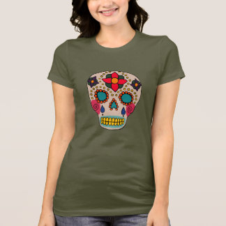 Mexican Folk Art Sugar Skull T-Shirt