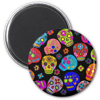 Mexican Folk Art Sugar Skulls Magnet