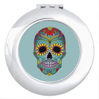 Mexican Folk Art Sugar Skulls Mirrors For Makeup