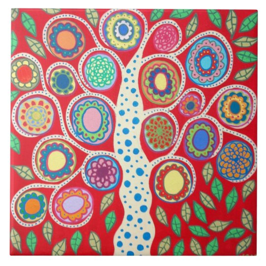 Mexican Folk Art Tree of Life Tiles Kitchen