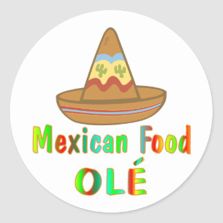 Mexican Food Classic Round Sticker