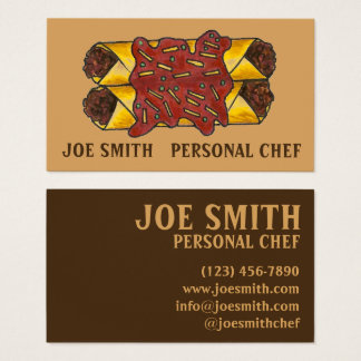 Mexican Food Enchiladas Personal Chef Cook Foodie Business Card