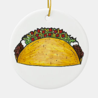 Mexican Food Hard Shell Taco Tacos Foodie Ornament