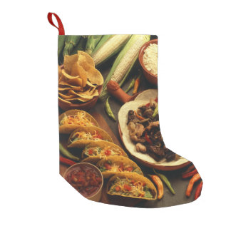Mexican Food Small Christmas Stocking