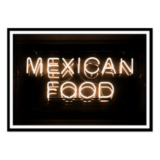 MEXICAN FOOD -Yellow Neon Sign Pack Of Chubby Business Cards
