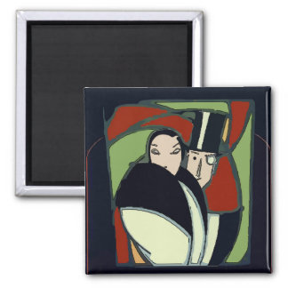 Mexican Formal Couple Tile Magnet