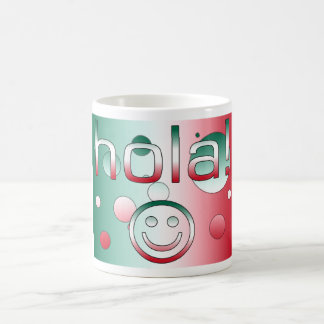 Mexican Gifts : Hello / Hola + Smiley Face Basic White Mug