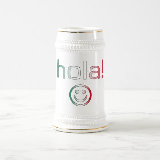 Mexican Gifts : Hello / Hola + Smiley Face Beer Steins
