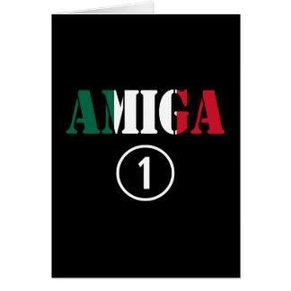 Mexican Girl Friends : Amiga Numero Uno Greeting Card