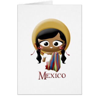 Mexican Girl Greeting Card