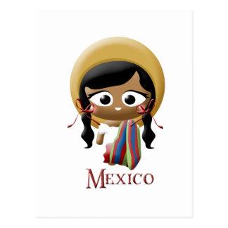 Mexican Girl Postcard