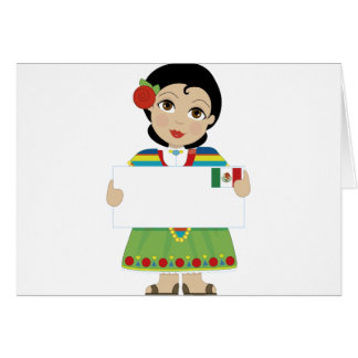 Mexican Girl Sign Greeting Card