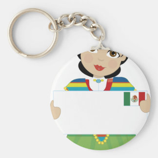 Mexican Girl Sign Key Ring