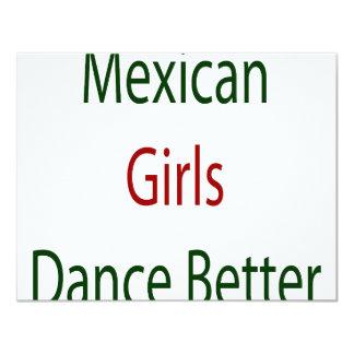 Mexican Girls Dance Better 11 Cm X 14 Cm Invitation Card
