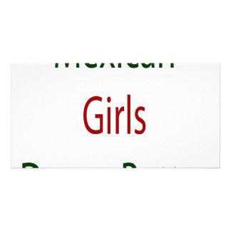 Mexican Girls Dance Better Custom Photo Card