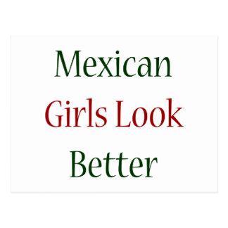Mexican Girls Look Better Postcard