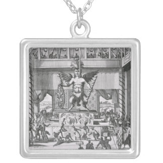 Mexican God Huitzilopochtli Silver Plated Necklace