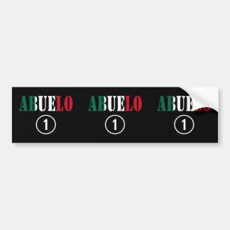 Mexican Grandfathers : Abuelo Numero Uno Bumper Sticker
